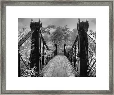 Victorian Bridge Framed Print by Jane Linders