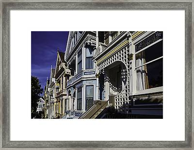 Victorian Homes Detail Framed Print by Garry Gay