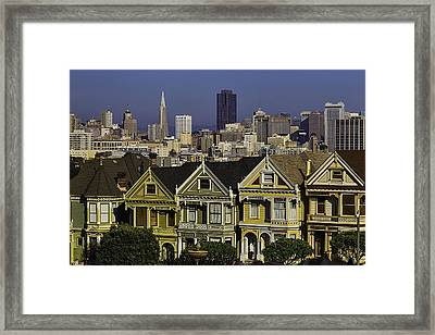 Victorian House In San Francisco Framed Print by Garry Gay