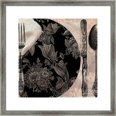 Victorian Table Framed Print by Mindy Sommers