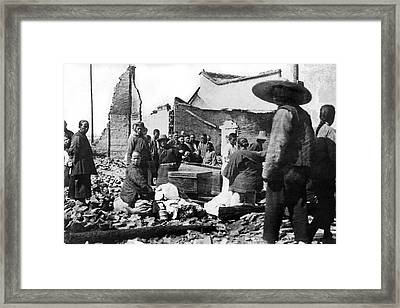 Victorious Natives Of Shanghai Framed Print by Underwood Archives