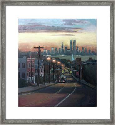 Victory Boulevard At Dawn Framed Print by Sarah Yuster