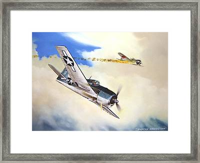 Victory For Vraciu Framed Print by Marc Stewart