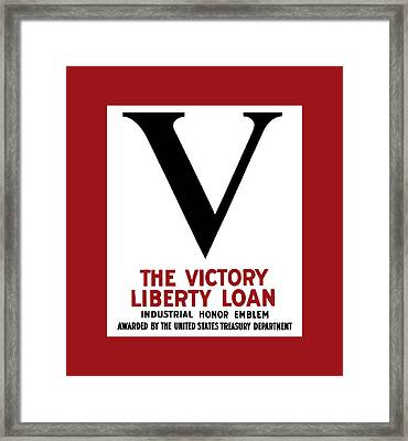 Victory Liberty Loan Industrial Honor Emblem Framed Print by War Is Hell Store
