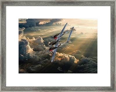 Victory Roll Framed Print by Peter Chilelli