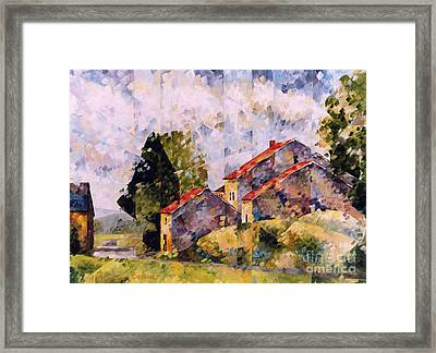 Viegeay Anthisnes  Framed Print by Beatrice BEDEUR