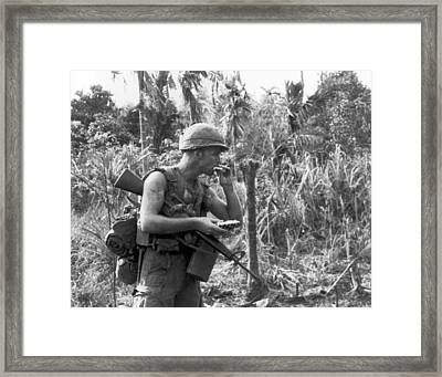 Vietnam Pineapple Snack Framed Print by Underwood Archives