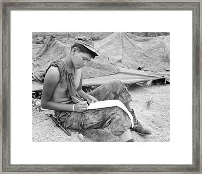 Vietnam War. Private First Class Joseph Framed Print by Everett