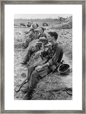 Vietnam War. Soldiers Of The 25th Framed Print by Everett