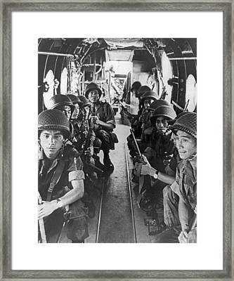 Vietnamese Paratroopers Framed Print by Underwood Archives