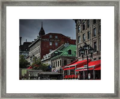 Vieux Montreal 001 Framed Print by Lance Vaughn