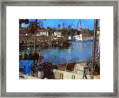 View Across The Bay Framed Print by Thom Zehrfeld