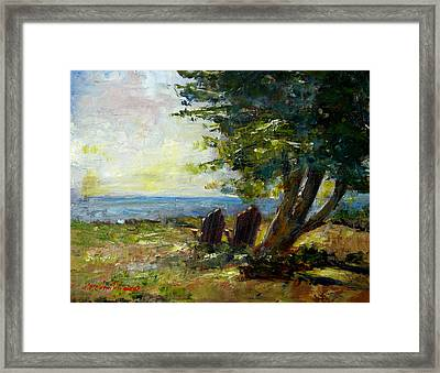 View For Two Framed Print by Rose Ann Albanese