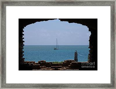 View From A Fort Framed Print by Edna Weber