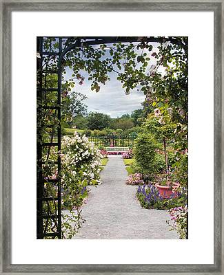 View From A Pergola Framed Print by Jessica Jenney
