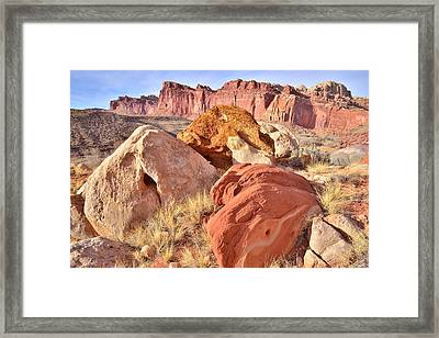 View From Cohab Canyon Framed Print by Ray Mathis