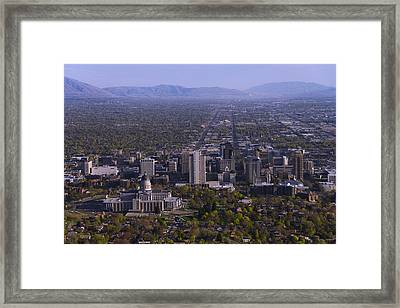 View From Ensign Framed Print by Chad Dutson