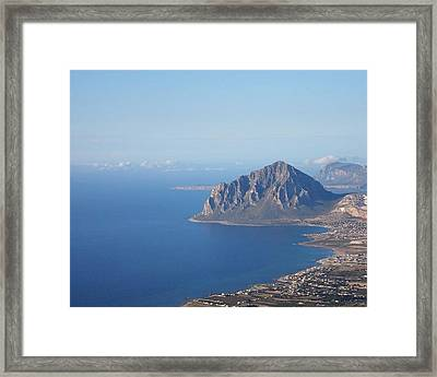 View From Erice Framed Print by Beverly Kay