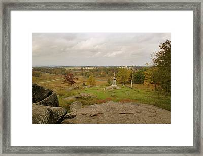 View From Little Round Top 2 Framed Print by Mick Burkey