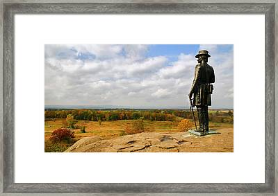 View From Little Round Top Framed Print by Mick Burkey