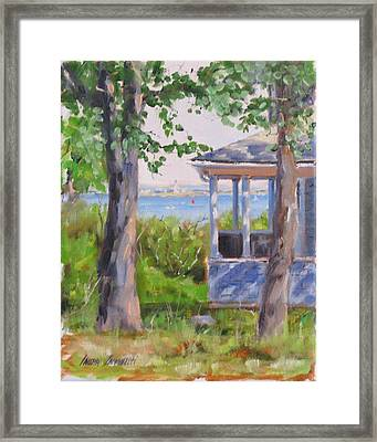 View From Pointe Allerton Framed Print by Laura Lee Zanghetti