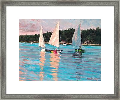 View From Rich's Boat Framed Print by Laura Lee Zanghetti