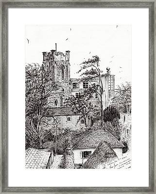 View From St Catherines School Ventnor Framed Print by Vincent Alexander Booth