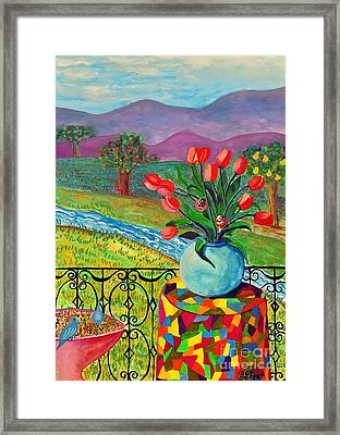 View From The Balcony Framed Print by Caroline Street