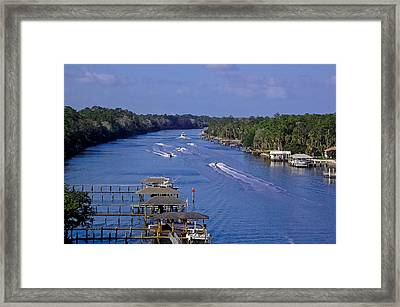 View From The Bridge Of Lions Framed Print by DigiArt Diaries by Vicky B Fuller