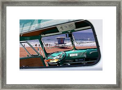 View From The Bus Framed Print by Ron Regalado