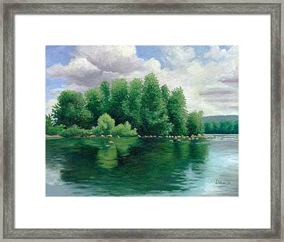 View From The Canoe Framed Print by Joe Winkler