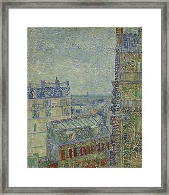 View From Theo's Apartment  Framed Print by Vincent van Gogh
