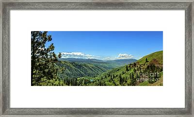 View From White Bird Hill Framed Print by Robert Bales