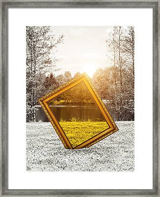 View In Color Framed Print by Wim Lanclus