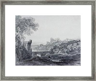 View In Italy Framed Print by Sir Augustus Wall Callcott