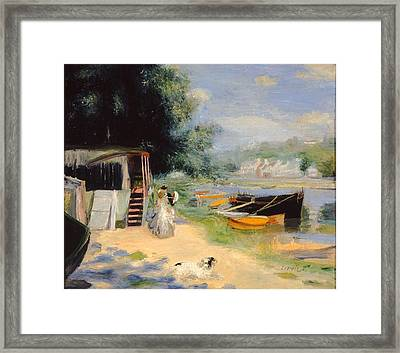 View Of Bougival Framed Print by MotionAge Designs