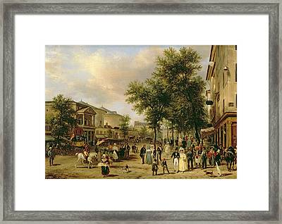View Of Boulevard Montmartre Framed Print by Guiseppe Canella