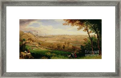 View Of Bradford Framed Print by William Cowen