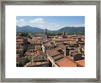 View Of Buildings From Top Of Torre Framed Print by Panoramic Images