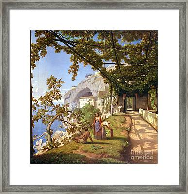 View Of Capri Framed Print by Theodore Aligny