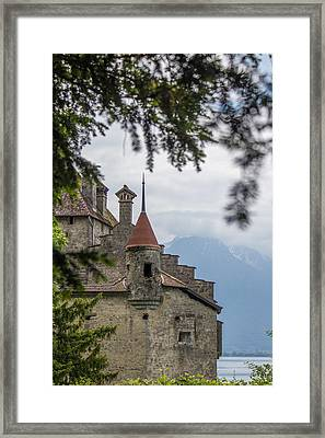 View Of Chillon Castle Framed Print by Lisa Lemmons-Powers