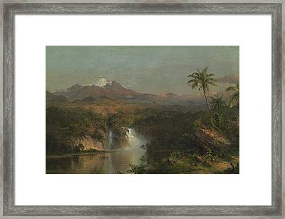 View Of Cotopaxi Framed Print by Frederic Edwin Church