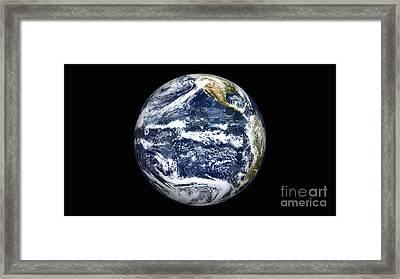 View Of Full Earth Centered Framed Print by Stocktrek Images