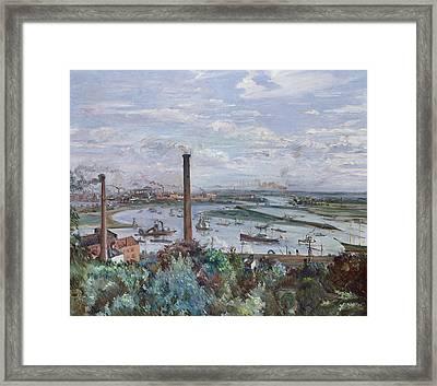 View Of Kohlbrand Framed Print by Lovis Corinth