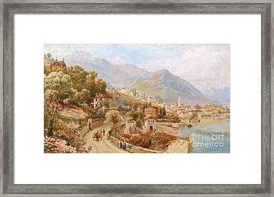 View Of Lake Orta Framed Print by MotionAge Designs