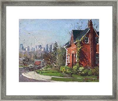 View Of Mississauga City Framed Print by Ylli Haruni