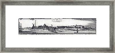 View Of New York City, Then  New Framed Print by Everett