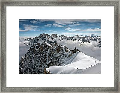View Of Overlooking Alps Framed Print by Ellen van Bodegom
