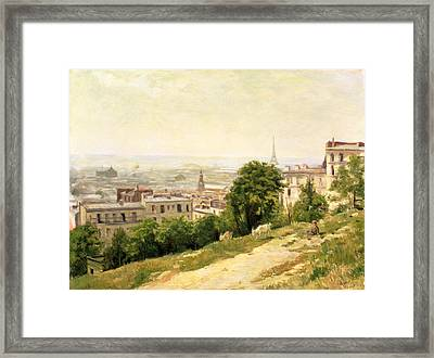 View Of Paris Framed Print by Stanislas Victor Edouard Lepine