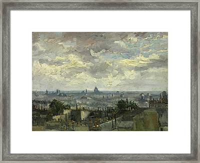 View Of Paris Framed Print by Vincent van Gogh